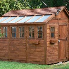 Outdoor Living Today SSGS812 Sunshed 8 x 12 ft. Garden Shed, Brown
