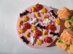 Halloween Pumpkin Bat Moon Star Polymer Clay Mold by beautymolds