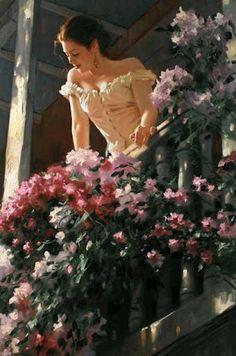 Balcony Lady
