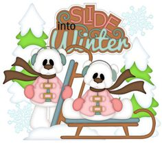 Slide into Winter! - Treasure Box Designs Patterns & Cutting Files (SVG,WPC,GSD,DXF,AI,JPEG)