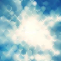 Abstract Blue Hexagonal Background Design #freevectors
