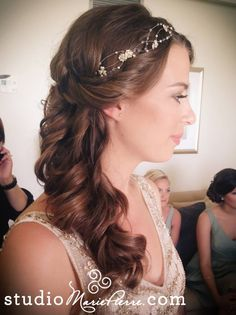 side swept bridal updo
