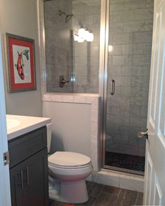 Looking for Transitional Bathroom ideas? Browse Transitional Bathroom images for decor, layout, furniture, and storage inspiration from HGTV. Small Full Bathroom, Small Basement Bathroom, Budget Bathroom, Bathroom Layout, Bathroom Renovations, Bathroom Makeovers, Bathroom Ideas, House Renovations, House Remodeling