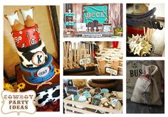 great idea source -- Haute Chocolate - Calgary Party Styling and Custom Party Decor: Cowboy Birthday Party Theme Ideas Cowboy Theme Party, Cowboy Birthday Party, Horse Party, 1st Birthday Parties, Birthday Ideas, Baby Birthday, Cowboy Baby Shower, Western Parties, Party Time