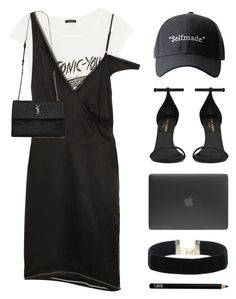 """self made"" by starit ❤ liked on Polyvore featuring R13, Yves Saint Laurent, Incase and Space NK"