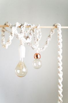 DIY To Try: Giant Macramé Rope Lights - Do-It-Yourself Projects - Lonny