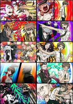 Dangan Ronpa Makoto and Hajime vs. the blackened Disney Marvel, Makoto Naegi, Nagito Komaeda, Super Danganronpa, Another Anime, Nanami, Gundam, Geek Stuff, Fan Art