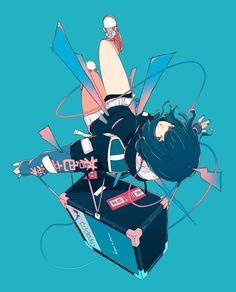 Cool Anime Girl, Anime Art Girl, Cartoon Kunst, Cartoon Art, Pretty Art, Cute Art, Aesthetic Art, Aesthetic Anime, Cyberpunk Kunst