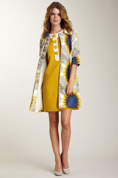 Orla Kiely sunflower coat