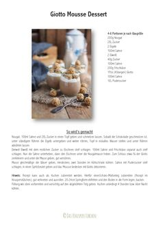 Giotto Mousse Dessert Chocolate Hazelnut Mousse Dessert