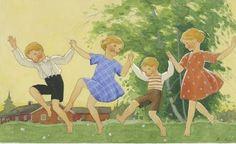 children in art history Vintage Children's Books, Vintage Art, Squirrel Girl, Innocent Child, Boy Fishing, Classic Comics, Children Images, Parcs, Children's Book Illustration