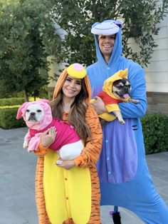 Rosanna Pansino as 'Tigger', Husky as 'Eeyore', Coconut as 'Pigglet', Blueberry Muffin as 'Pooh'
