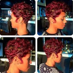 finger waves on short african american hair - Google Search