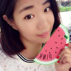 Indie green cartoon watermelon shape simple design(for 5/5s) silicone Iphone 5 5s http://earrings.asumall.com/