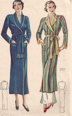 RARE 1934 Simplicity 1688 Hollywood Glamour Robe pattern. #vintage #sewing #patterns #1930s