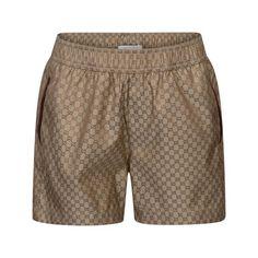 GUCCI Boys Beige GG Jacquard Swim Shorts