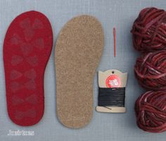 U.S. sizes!  Joe's Toes Cross-over Knitted Slipper Kit - now in separate listing for U.K and U.S. sizes. Designed and made in England and shipped all over the World!