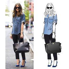 One of the most #stylish girls @oliviapalermo #fashionillustration