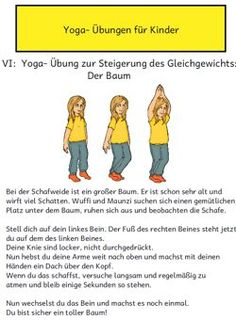 Picture and text material for first simple yoga exercises. Included in the material i … - Yoga und Fitness - ENG