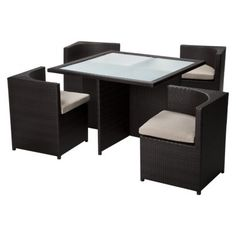 Target Home™ Rolston 5-Piece Wicker Patio Square Dining Furniture Set  $576.75