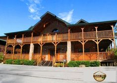 Pine Tree Lodge at Hemlock Hills Resort Gatlinburg TN. Pine Tree can accommodate up to 38 people. Perfect for family reunions, weddings and large groups! Call for information 865-774-9704 or visit our website: www.hemlockhillscabinrentals.com.