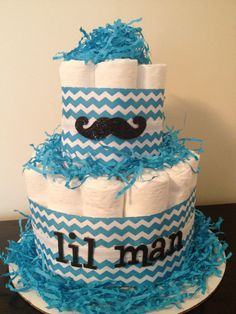 How to make 2 tier diaper cakes