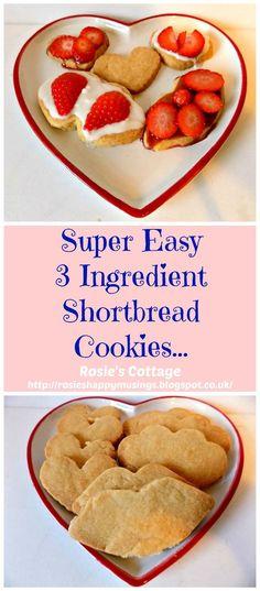 3 Ingredient Valentine's Day Shortbread Cookies