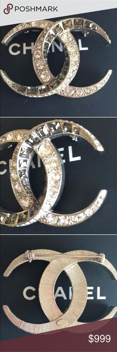 Chanel brooch Authentic Chanel Dubai brooch sliver. Box, jewel pouch included CHANEL Jewelry Brooches