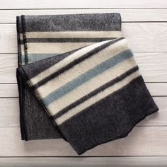 Built for bedtime or on-the-path panache. Feel the soft, substantial, warm-to-the-nth-degree weave, and you'll understand why blankets like this were used as currency by trappers and traders in and beyond the 18th-century wilderness. The ranch that produc