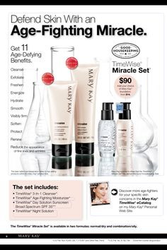 With 11 age-defying benefits in one system, the Mary Kay TimeWise® Miracle Set® is clinically shown to reduce the appearance of fine lines, target skin resilience and help skin tone look more even.