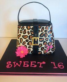 CHEETAH PRINT PURSE CAKE