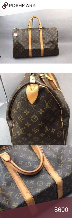 LOUIS VUITTON Keepall45 M41418 LOUIS VUITTON Keepall45 M41418  Bandouliere Boston Bag   *** this bag is like new. Louis Vuitton Bags Travel Bags