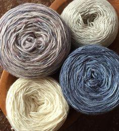 Yarn, hand dyed: Nabi Wool Studio #handdyedyarns ready in #delicious, yummy #yarncakes to #caston for a #testknit #shawlknitting  #neverenoughshawls #indiedyedyarn #knittersofinstagram #strikk #strikke #stricken #tricot #yarnlove #yarnaddict #strikkedilla #wolle #handgefaerbt etsy.com/shop/NabiWoolStudio