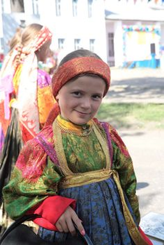 A girl's costume of the Ust-Tsilma (Russia, Komi Republic, in the past Arkhangelsk province)