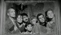 The Diary of Anne Frank 1959. L-R Joseph Schildkraut,Gusti Huber, Lou Jacobi, Millie Perkins, Shelley Winters, Richard Beymer and Diane Baker.