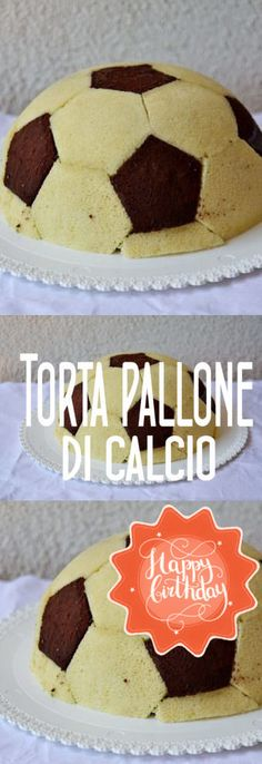 torta a forma di pallone da calcio Easy Cake Recipes, Baby Food Recipes, Sweet Recipes, Nutella, Buffet, Food And Drink, Birthday Cake, Pudding, Sweets