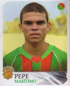 Pepe, Maritimo (now of Real Madrid) School Football, Football Soccer, Real Madrid, Football Stickers, Fc Barcelona, Old School, Soccer Guys, Garter, Old Pictures