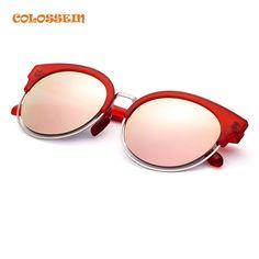COLOSSEIN ORANGE LABEL Fashion Sunglasses Women Cat Eye Style Cute Polarized Lens Glasses Durable Frame Adult Holiday Eyewear