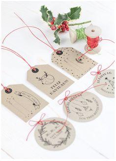 Labores en Red: 2262.- Etiquetas para los regalos de Navidad