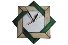 Wall Clock Stained Glass Celtic - Unique Modern Art Glass with Celtic Geometric…