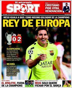 Periódico Sport (España). Periódicos de España. Toda la prensa de hoy. Kiosko.net