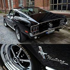 '68 Black Flawless Mustang Fastback... Re-pin Brought to you by #HouseofInsurance in #EugeneOregon for #LowCostInsurance