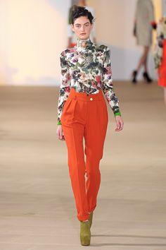 Preen Fall 2012 - love the orange pants