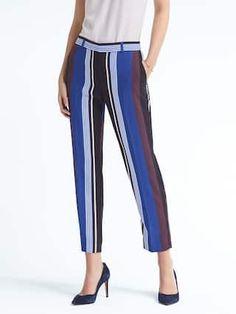 Avery-Fit Stripe Pant   Banana Republic