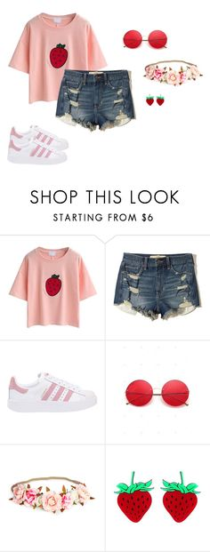 """""""everything"""" by lil-gummy ❤ liked on Polyvore featuring Hollister Co. and adidas Originals"""