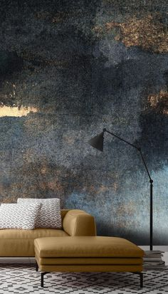 Rain with Sun Wall Mural Textured Wallpaper, Textured Walls, Home Interior Design, Interior Styling, Room Wallpaper, Wallpaper Ideas, Hand Painted Walls, Wall Decor, Room Decor
