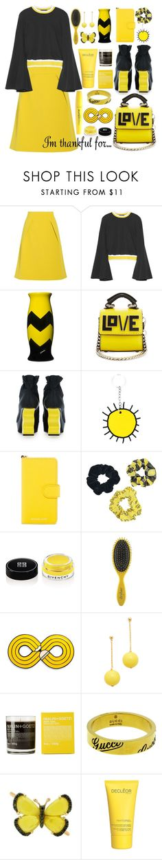"""""""I am thankful for love"""" by puljarevic ❤ liked on Polyvore featuring TIBI, E L L E R Y, Corsi Design Factory, Les Petits Joueurs, Christopher Kane, MICHAEL Michael Kors, Wet n Wild, Givenchy, Drybar and Kenneth Jay Lane"""