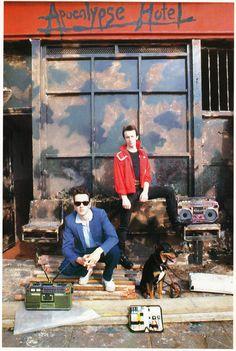 Joe Strummer & Topper Headon at the Apocalypse Hotel.