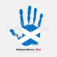 Hand print, which bears the flag. Grungy hand print with the flag. Hand print and five fingers. Used as an icon, card, greeting, printed materials. Flag of Scotland - stock vector Scottish Independence, Independence Day, Kiribati Flag, Flag Of Scotland, Celtic Nations, Flag Vector, Printed Materials, Coat Of Arms, Vector Free