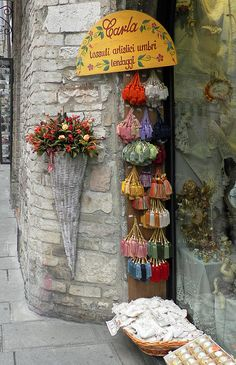 Storefront In Assissi, Italy